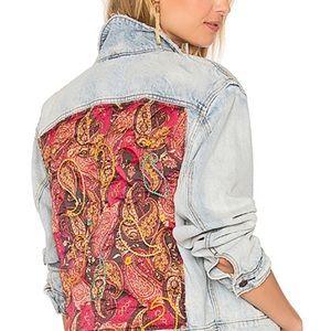 Free People Paisley Denim Jacket 💙 XS/S
